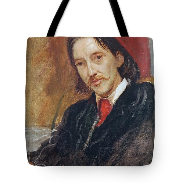 Portrait Of Robert Louis Stevenson Tote Bag by Sir William Blake Richomond