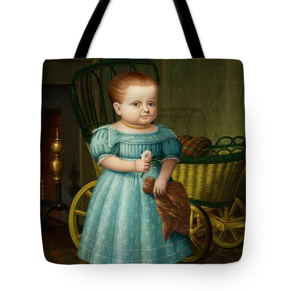 Portrait Of Sally Puffer Sanderson Tote Bag