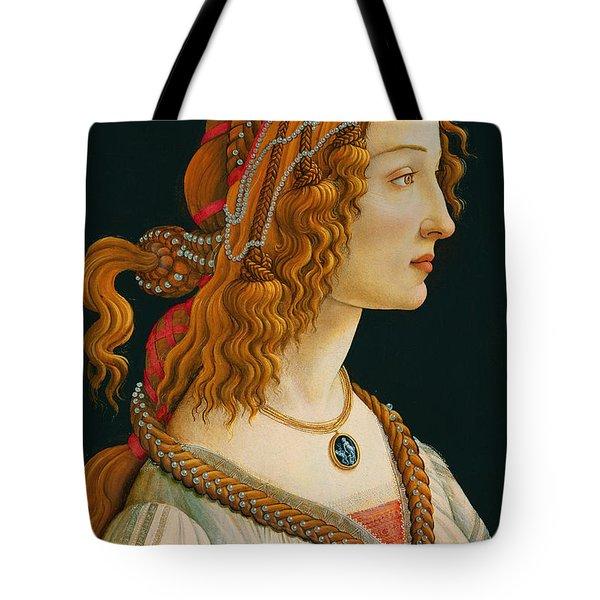 Portrait Of Simonetta Vespucci  Tote Bag