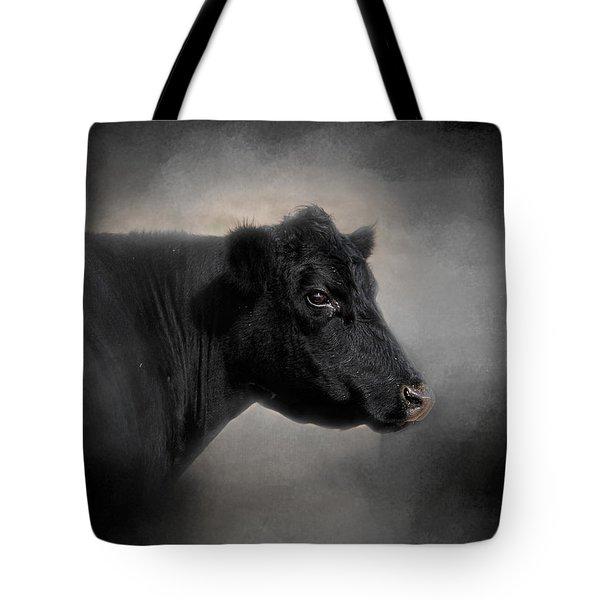 Portrait Of The Black Angus Tote Bag by Jai Johnson