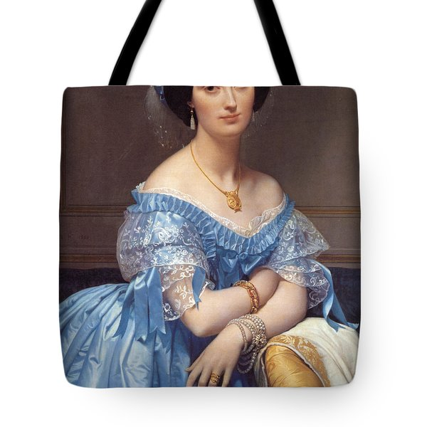 Portrait Of The Princesse De Broglie Tote Bag by Jean Auguste Dominique Ingres