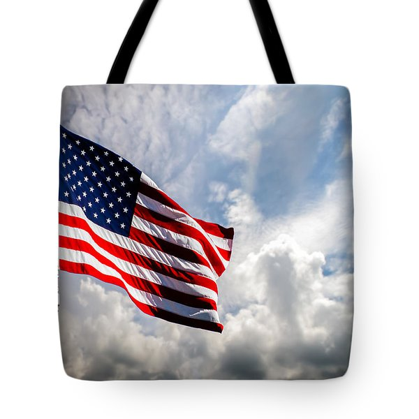 Portrait Of The United States Of America Flag Tote Bag by Bob Orsillo