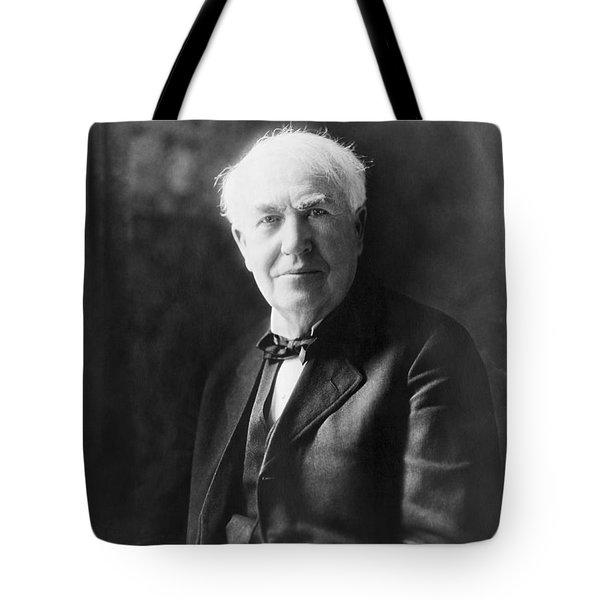 Portrait Of Thomas Edison Tote Bag