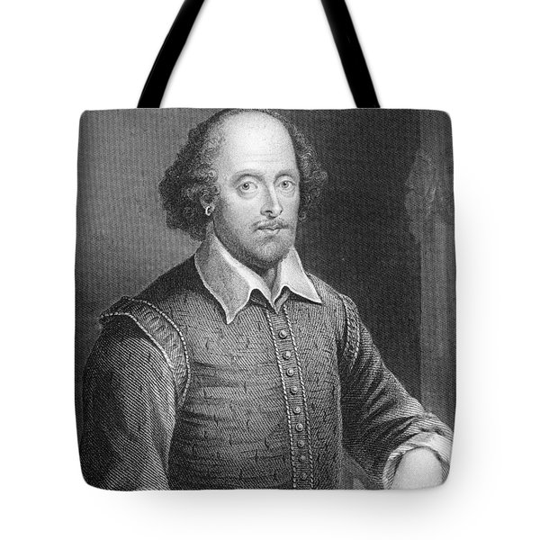 Portrait Of William Shakespeare Tote Bag by English School