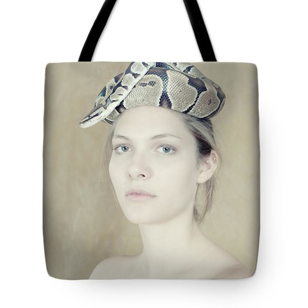 Portrait With The Snake Tote Bag by Zina Zinchik