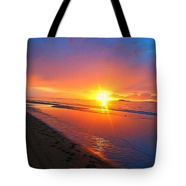 Portrush Sunset Tote Bag by Tara Potts