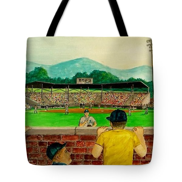 Portsmouth Athletics Vs Muncie Reds 1948 Tote Bag by Frank Hunter