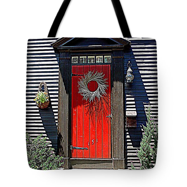 Portsmouth Door 2 Tote Bag by Kevin Fortier
