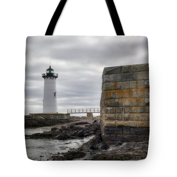 Portsmouth Harbor Light Tote Bag by Eric Gendron