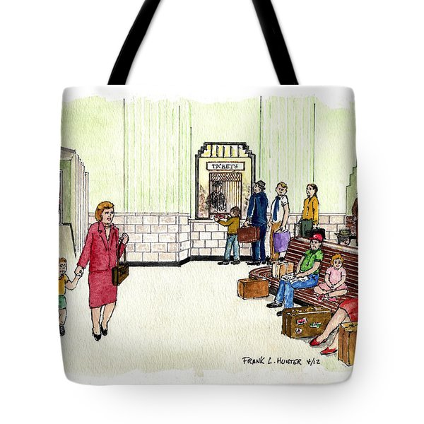 Portsmouth Ohio Train Station Ticket Window Buying A Bag Of Chips1940s Tote Bag