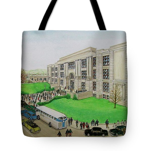 Portsmouth Trojans Travel To An Away Game Tote Bag by Frank Hunter
