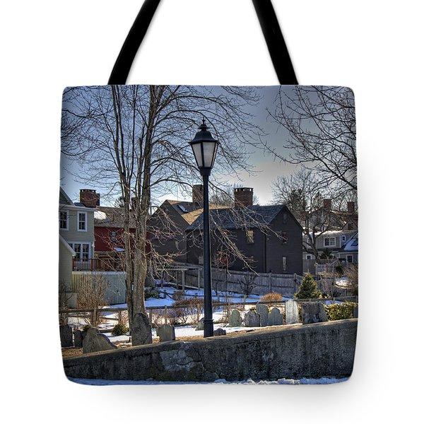 Portsmouth Winter Tote Bag by Joann Vitali