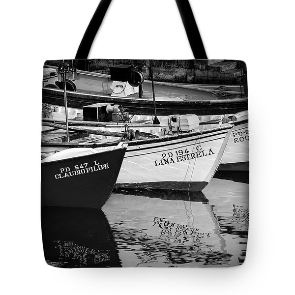 Portuguese Fishing Boats Tote Bag