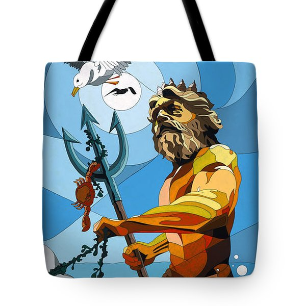 Poseidon - W/hidden Pictures Tote Bag