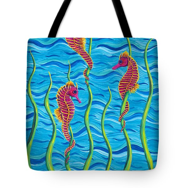 Poseidon's Steed Painting Bomber Tote Bag by Rebecca Parker