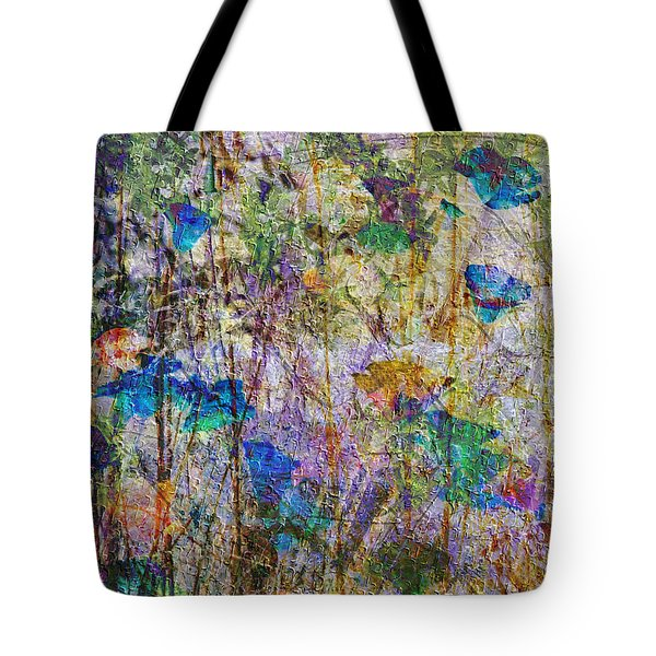 Posies In The Grass Tote Bag