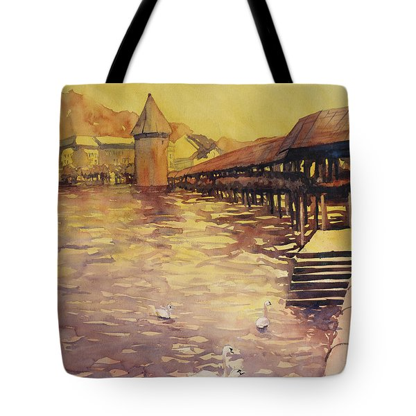 Posing For Tourists Tote Bag by Ryan Fox
