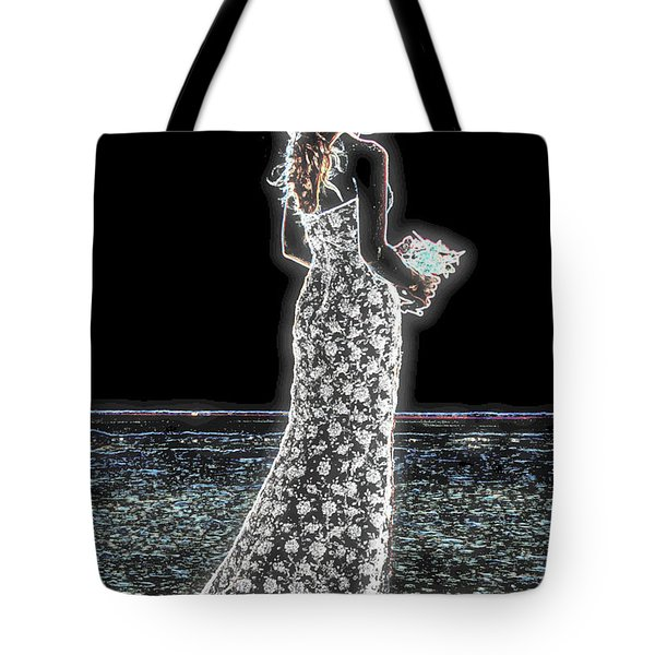 Posing Shyly Tote Bag by Leticia Latocki