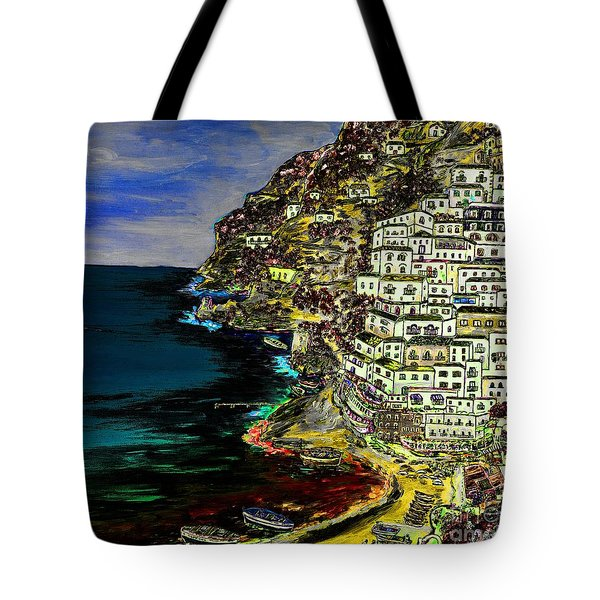 Positano At Night Tote Bag