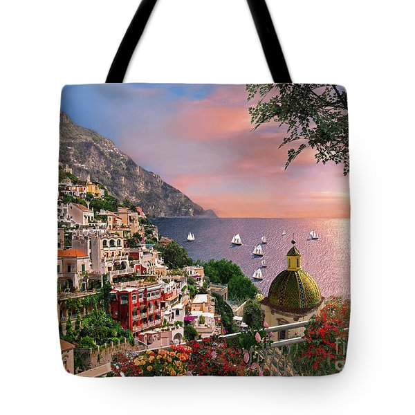Positano Tote Bag by Dominic Davison