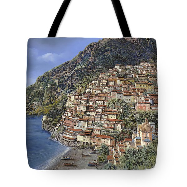 Positano E La Torre Clavel Tote Bag by Guido Borelli