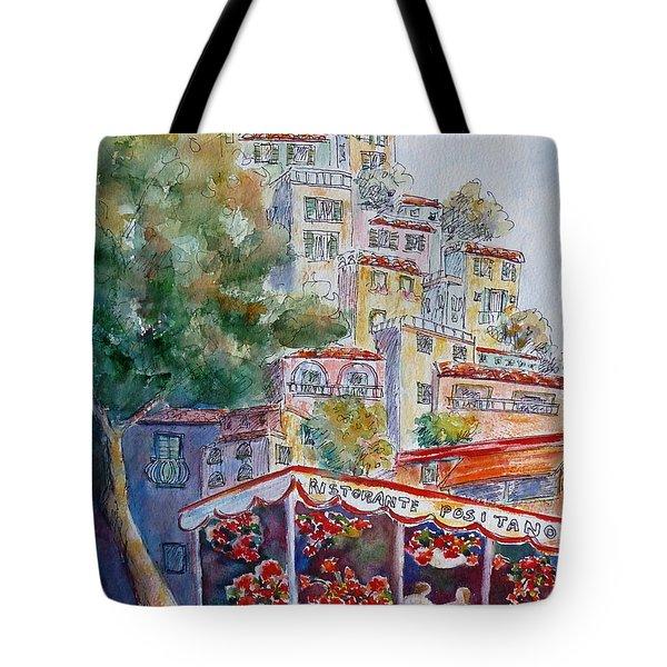 Positano Restaurant Tote Bag