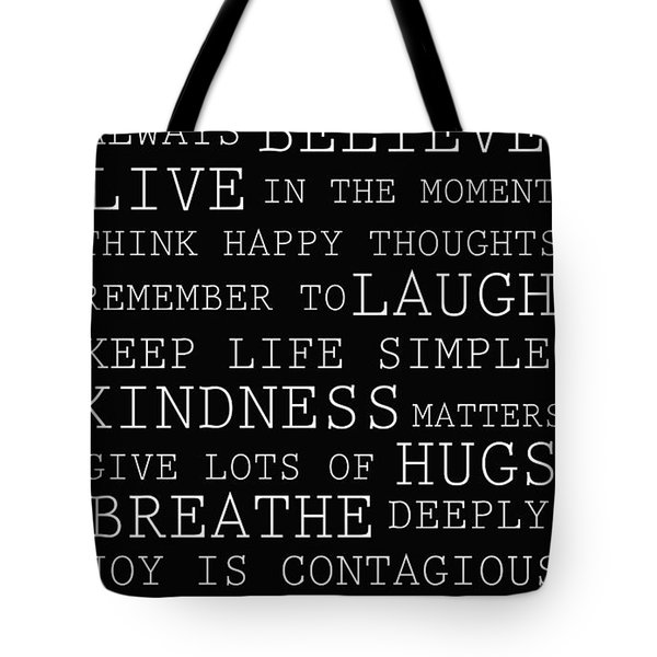 Positive Words Tote Bag