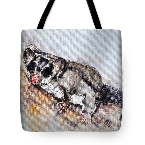 Possum Cute Sugar Glider Tote Bag by Sandra Phryce-Jones