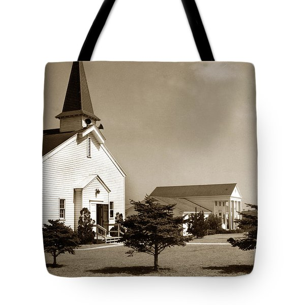 Post Chapel And Red Cross Building Fort Ord Army Base California 1950 Tote Bag