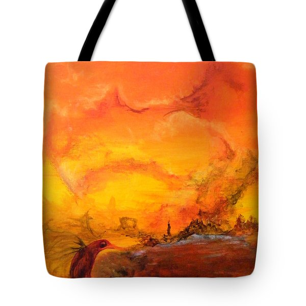 Post Nuclear Watering Hole Tote Bag