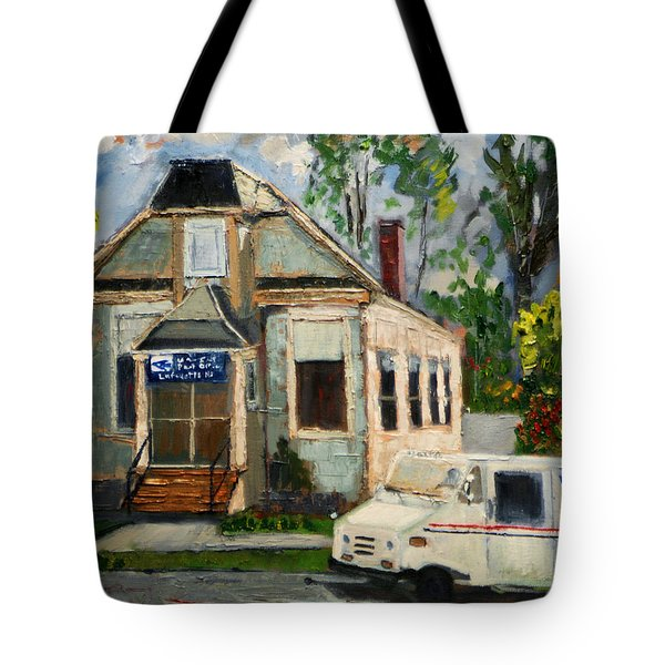 Post Office At Lafeyette Nj Tote Bag