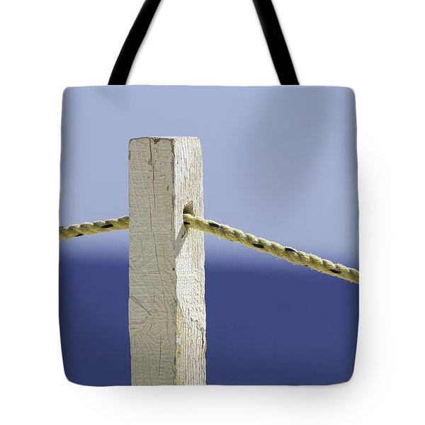 Post On The Beach Tote Bag