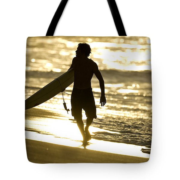 Post Surf Gold Tote Bag by Sean Davey