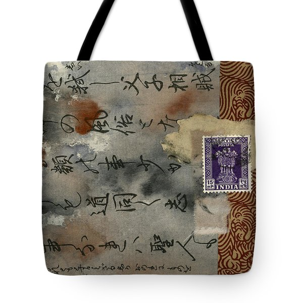 Postcard From India Collage Tote Bag