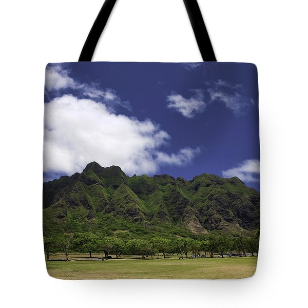 Postcard From Oahu Tote Bag by Joanna Madloch
