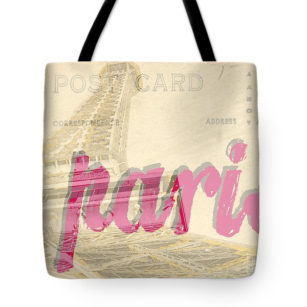 Postcard From Paris Tote Bag by Edward Fielding