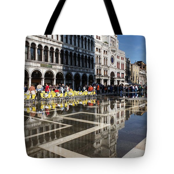 Tote Bag featuring the photograph Postcard From Venice by Georgia Mizuleva