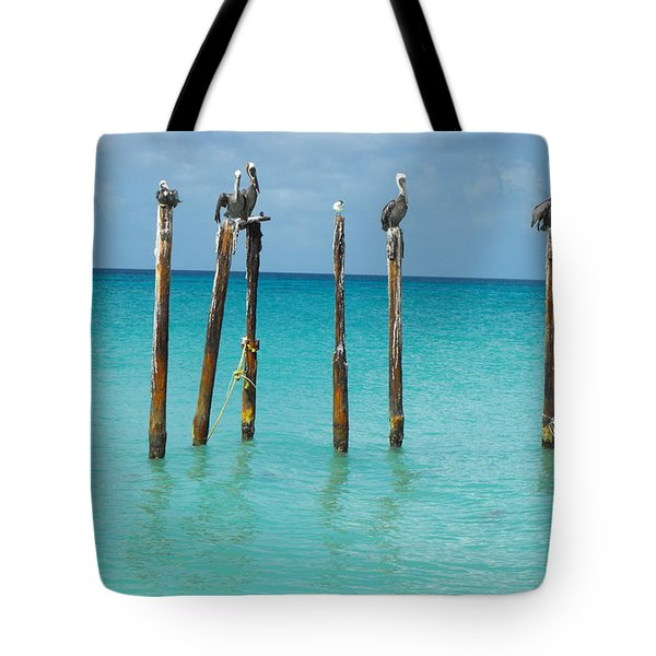 Posted Seagull Tote Bag