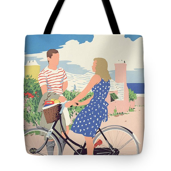 Poster Advertising Bermuda Tote Bag by Adolph Treidler