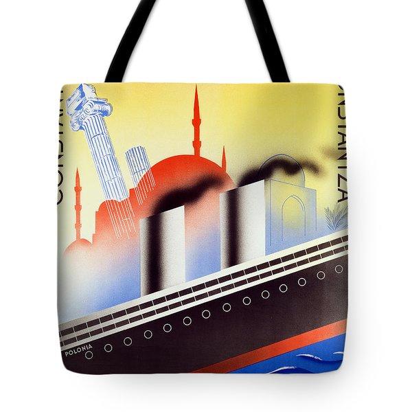 Poster Advertising The Polish Palestine Line Tote Bag by Zygmunt Glinicki