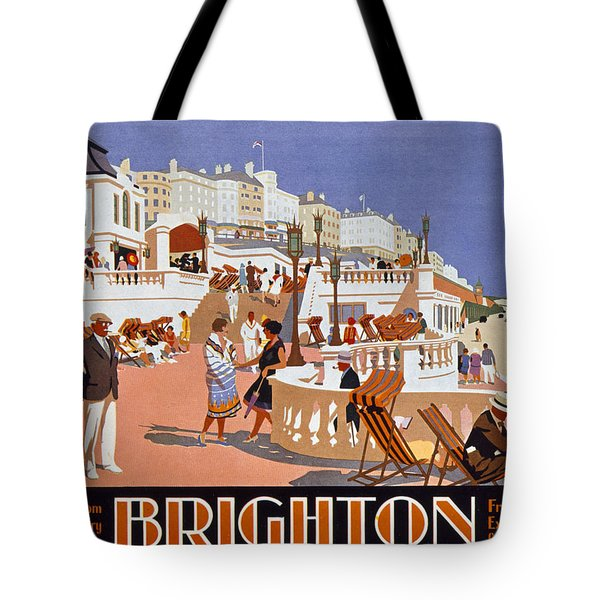 Poster Advertising Travel To Brighton Tote Bag