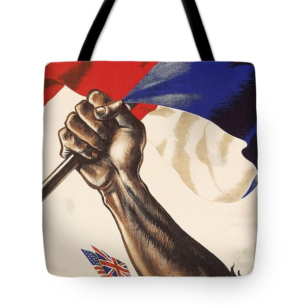 Poster For Liberation Of France From World War II 1944 Tote Bag by Anonymous