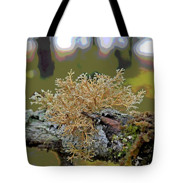 Posterized Antler Lichen Tote Bag