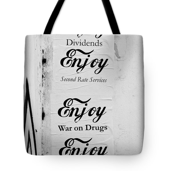 Posters Tote Bag by Tom Gowanlock