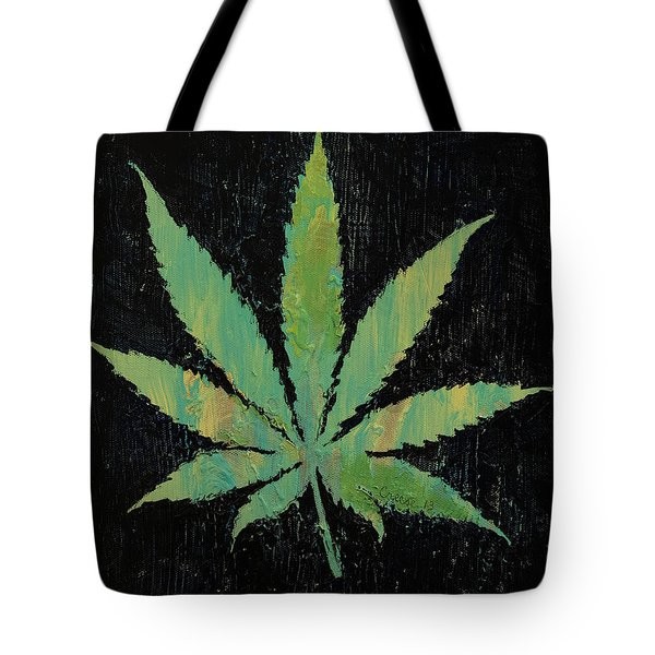 Pot Leaf Tote Bag by Michael Creese