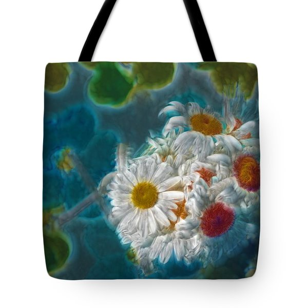 Pot Of Daisies 02 - S11bl01 Tote Bag by Variance Collections