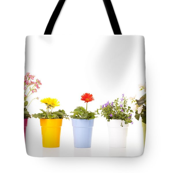 Potted Flowers Tote Bag by Alexey Stiop