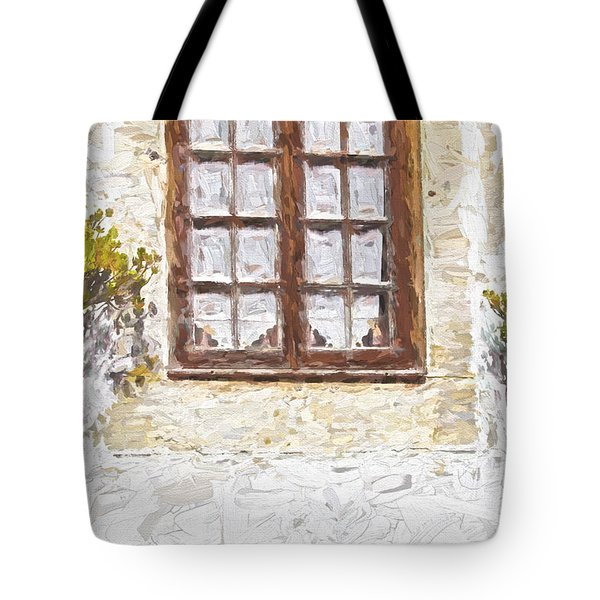 Tote Bag featuring the painting Potted Plants by David Letts
