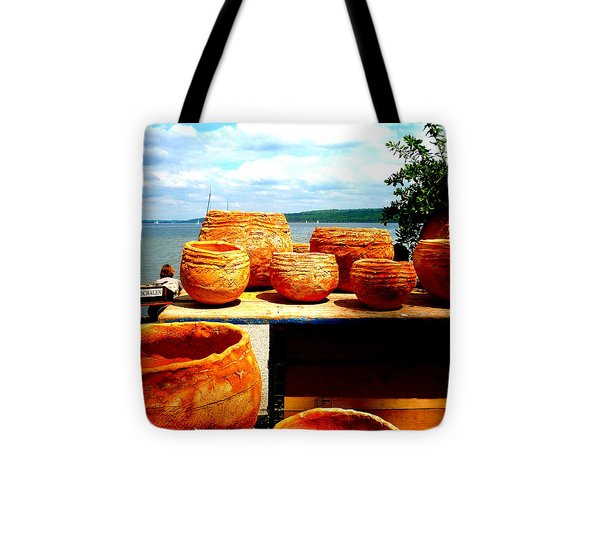 Pottery Market Diessen Tote Bag by The Creative Minds Art and Photography