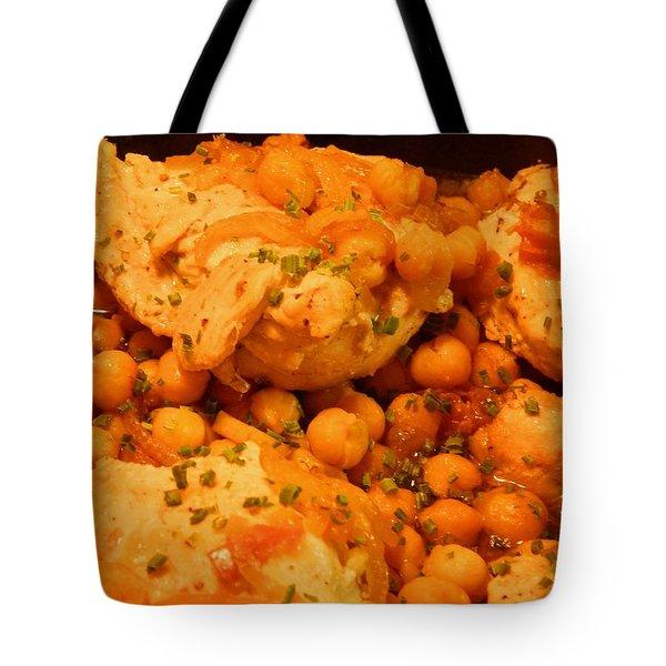 Poulet Aux Pois Chiches Avec Harissa Tote Bag by Aliceann Carlton